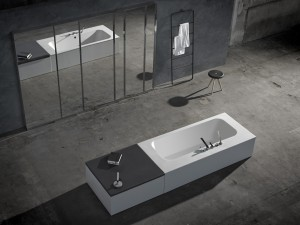 Fixation sur la baignoire